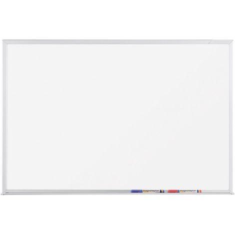 pizarra blanca - superficie esmaltado, 1200 x 900 mm - Magnetoplan CC