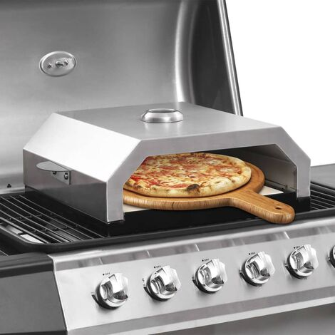 Pizza Oven with Ceramic Stone for Gas Charcoal BBQ - Multicolour