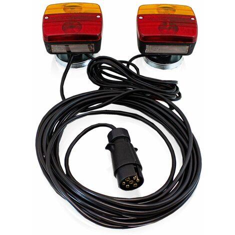 PKW Anhänger Rückleuchten Beleuchtungs Set 7 polig mit Magnet