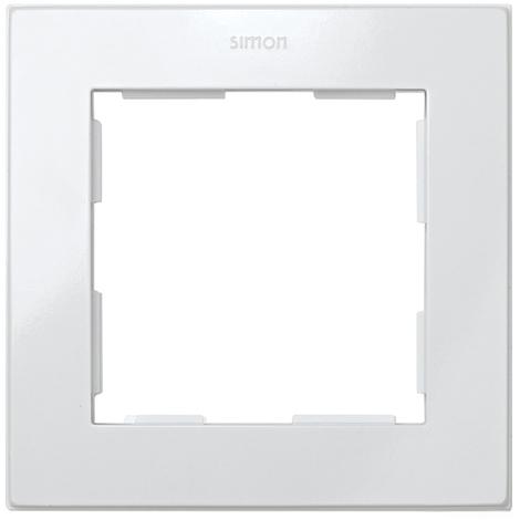 Placa 1 Elemento Serie 28 Blanco Nieve