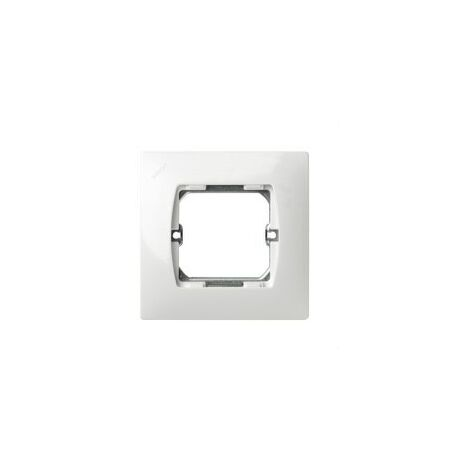 Placa 1 modulo ancho sin garra Serie 27 blanco nieve
