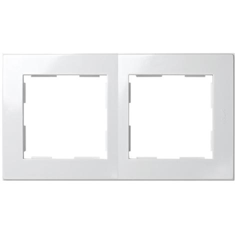 Placa 2 Elementos Serie 28 Blanco Nieve