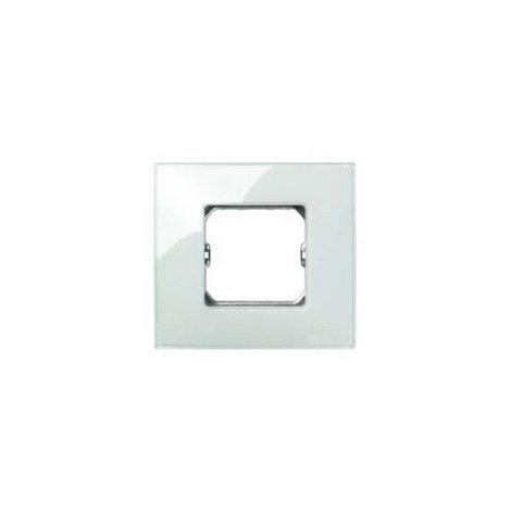 Placa 2 modulos anchos o 4 estrechos sin garras Serie 27 Neos azul