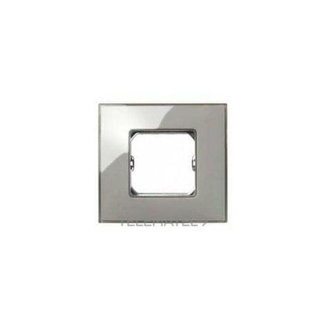 Placa 2 modulos anchos o 4 estrechos sin garras Serie 27 Neos gris