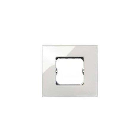 Placa 2 modulos anchos o 4 estrechos sin garras Serie 27 Neos marfil