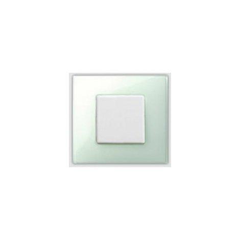 Placa 2 modulos anchos o 4 estrechos sin garras Serie 27 Neos verde