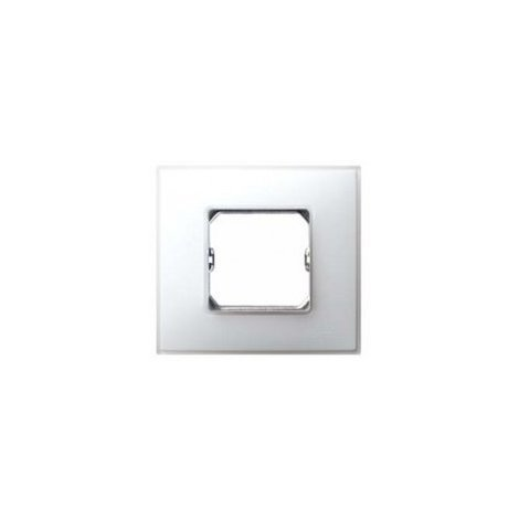 Placa 3 elementos Serie 27 blanco mate