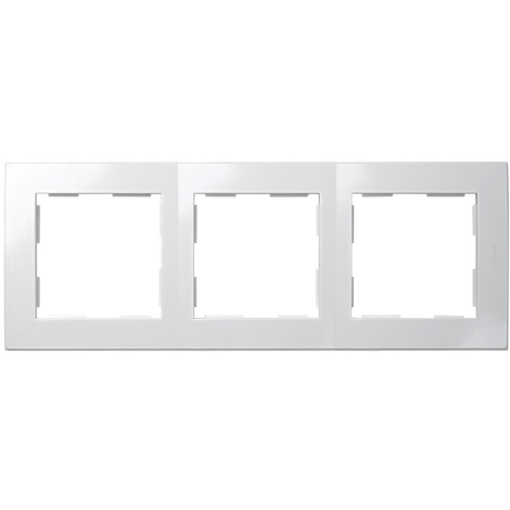 Placa 3 Elementos Serie 28 Blanco Nieve