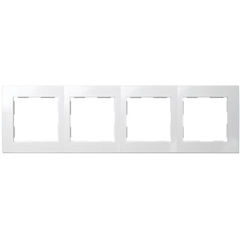Placa 4 Elementos Serie 28 Blanco Nieve