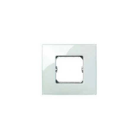 Placa 4 modulos anchos o 8 estrechos sin garras Serie 27 Neos azul
