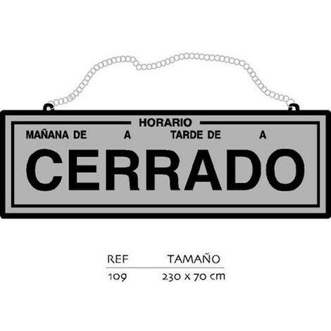 PLACA ABIERTO-CERRADO CON HORARIO PL.