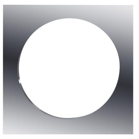 Placa acero cuadrada 13cm Polifemo - Acero