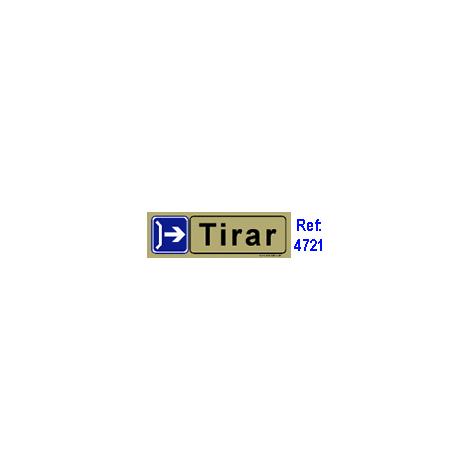PLACA ADH.TIRAR HORZPVC 53x165MM 4721 BL