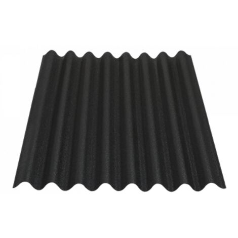 "main image of ""Placa Asfáltica ondulada EASYLINE 1 x 0,76 m (0,59 m2 útiles) Color Negro - Negro sombreado"""