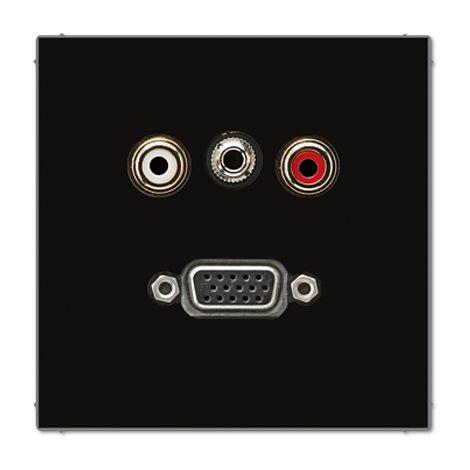 PLACA CINCH/AUDIO/MINIKLINKE 3,5mm/VGA JUNG MALS1072SW
