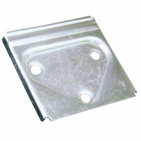 Placa Colgador 50X50Mm Acero Cinc Micel