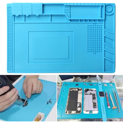 Placa de aislamiento térmico de silicona de 45 x 30 cm para aislamiento