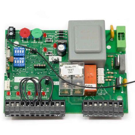 Placa de control EURO 230 M1 + RX para puertas correderas y basculares contrapesadas