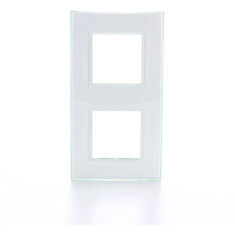 "main image of ""placa de cubierta Legrand - Livinglight 2 x 2 módulos horizontaal aqua"""