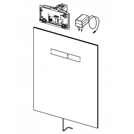 Placa de empuje TECElux con funcionamiento electrónico sen-Touch, cumplimiento: Vidrio blanco - 9650002
