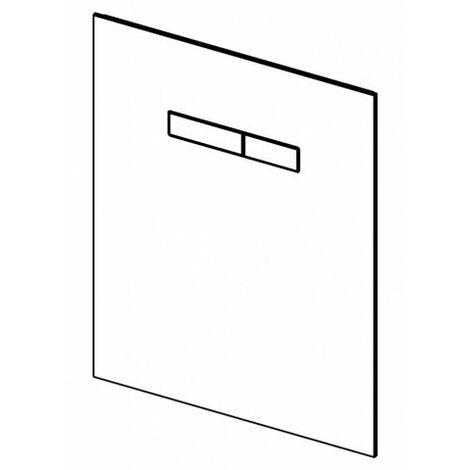 Placa de empuje TECElux con funcionamiento manual, botones de cromo brillante, cumplimiento: cristal blanco, teclas cromadas brillantes - 9650001