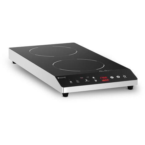 Placa De Inducción Cocina Portátil Doble Para Gastronomía 60 - 240 °C 2 x ?22 cm