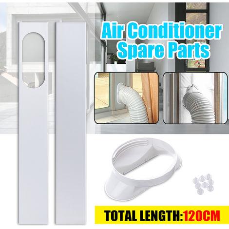 Placa de kit de deslizamiento de ventana ajustable de 2 piezas para adaptador de ventana de aire acondicionado