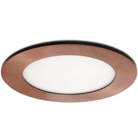 Placa de LEDs Circular Ø120Mm 6W 480Lm 50.000H Bronce | Blanco Cálido (GL-CL-R6N-B-WW)