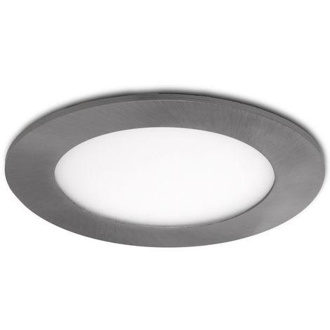 Placa de LEDs Circular Ø120Mm 6W 480Lm 50.000H Niquel Satinado