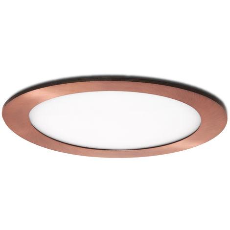 Placa de LEDs Circular Ø170Mm 12W 860Lm 50.000H Bronce | Blanco Cálido (GL-CL-R12N-B-WW)
