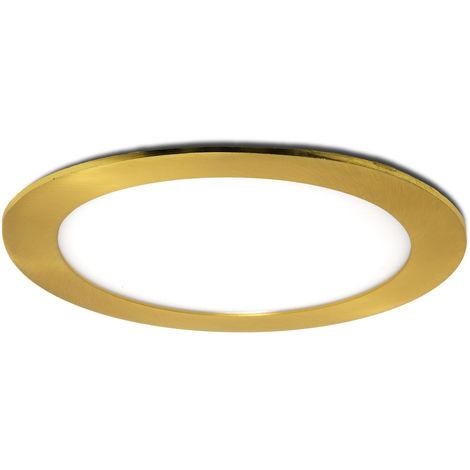 Placa de LEDs Circular Ø170Mm 12W 860Lm 50.000H Dorado | Blanco Cálido (GL-CL-R12N-G-WW)