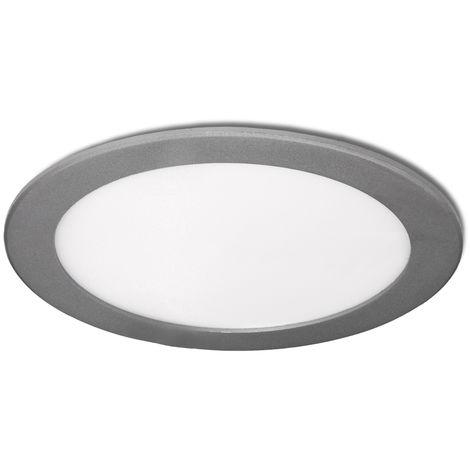 Placa de LEDs Circular Ecoline 192Mm 15W 1170Lm 30.000H Plata