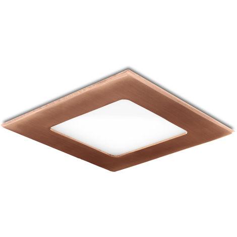 Placa de LEDs Cuadrada 120X120 Mm 6W 480Lm 50.000H Bronce | Blanco Cálido (GL-CL-S6N-B-WW)