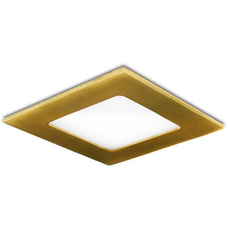Placa de LEDs Cuadrada 120X120 Mm 6W 480Lm 50.000H Dorado | Blanco Cálido (GL-CL-S6N-G-WW)