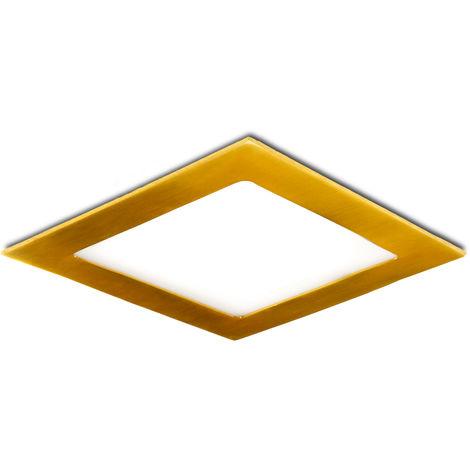 Placa de LEDs Cuadrada 225X225Mm 18W 1300Lm 50.000H Dorado | Blanco Cálido (GL-CL-S18N-G-WW)