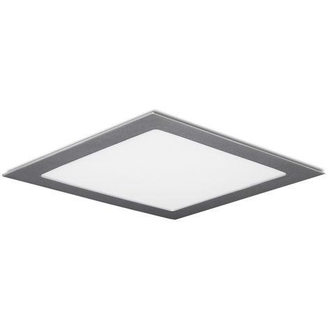 Placa de LEDs Cuadrada 224M 18W 1350Lm 30.000H Plata | Blanco Cálido (GR-RDP1405-18W-CW)