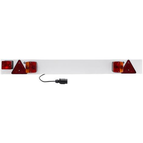 Placa de remolque trasera colgante indicador faros luces caravana 6 metros 12V