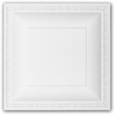 Placa de techo 157004 Profhome Elemento para techo Panel de pared estilo Neoimperio blanco