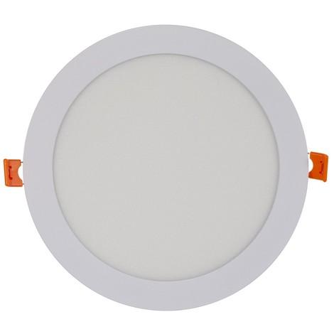 Placa downlight LED 18W empotrable circular