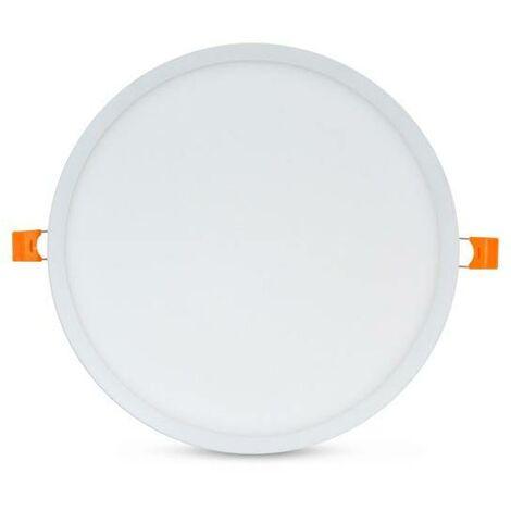 Placa downlight LED circular empotrable de diámetro ajustable 20W