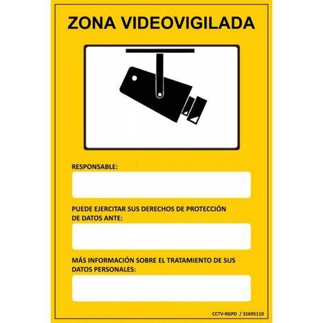 Placa homologada CCTV-RGPD zona vigilada