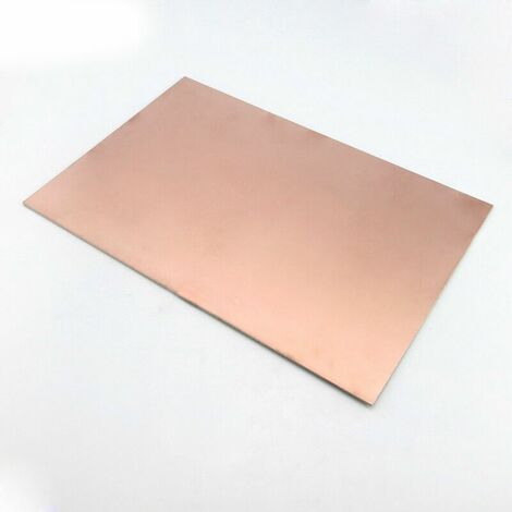"main image of ""Placa Laminada Fibra de Vidrio Cobre DIY Copper Clad 7x10cm PCB Circuit Board Una Cara"""