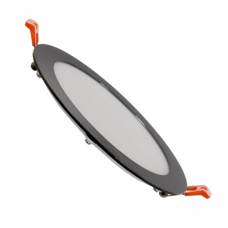Placa LED Circular SuperSlim 12W Black