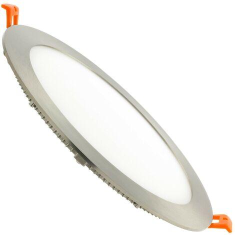 Placa LED Circular SuperSlim 18W Silver