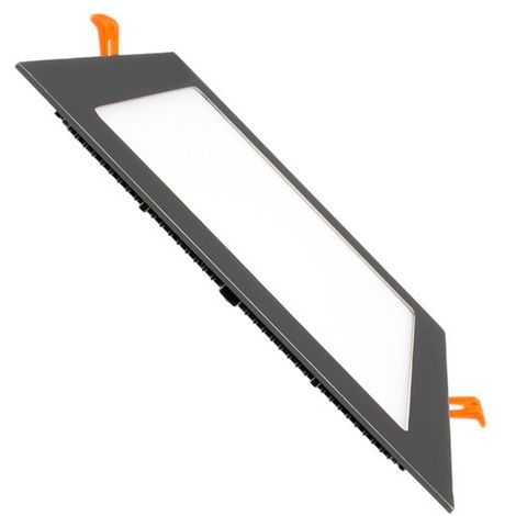 Placa LED Cuadrada SuperSlim 12W Black