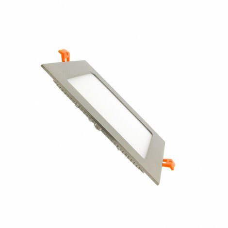 Placa LED Cuadrada SuperSlim 12W Silver