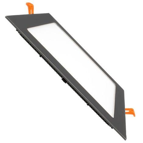 Placa LED Cuadrada SuperSlim 15W Black