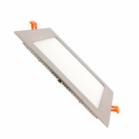 Placa LED Cuadrada SuperSlim 15W Silver