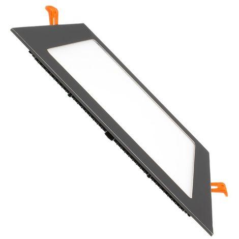 Placa LED Cuadrada SuperSlim 18W Black