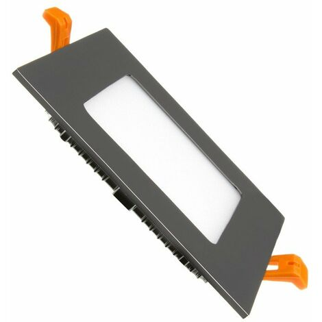 Placa LED Cuadrada SuperSlim 6W Black